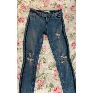 Zara Distressed & Embellished Jeans 💎